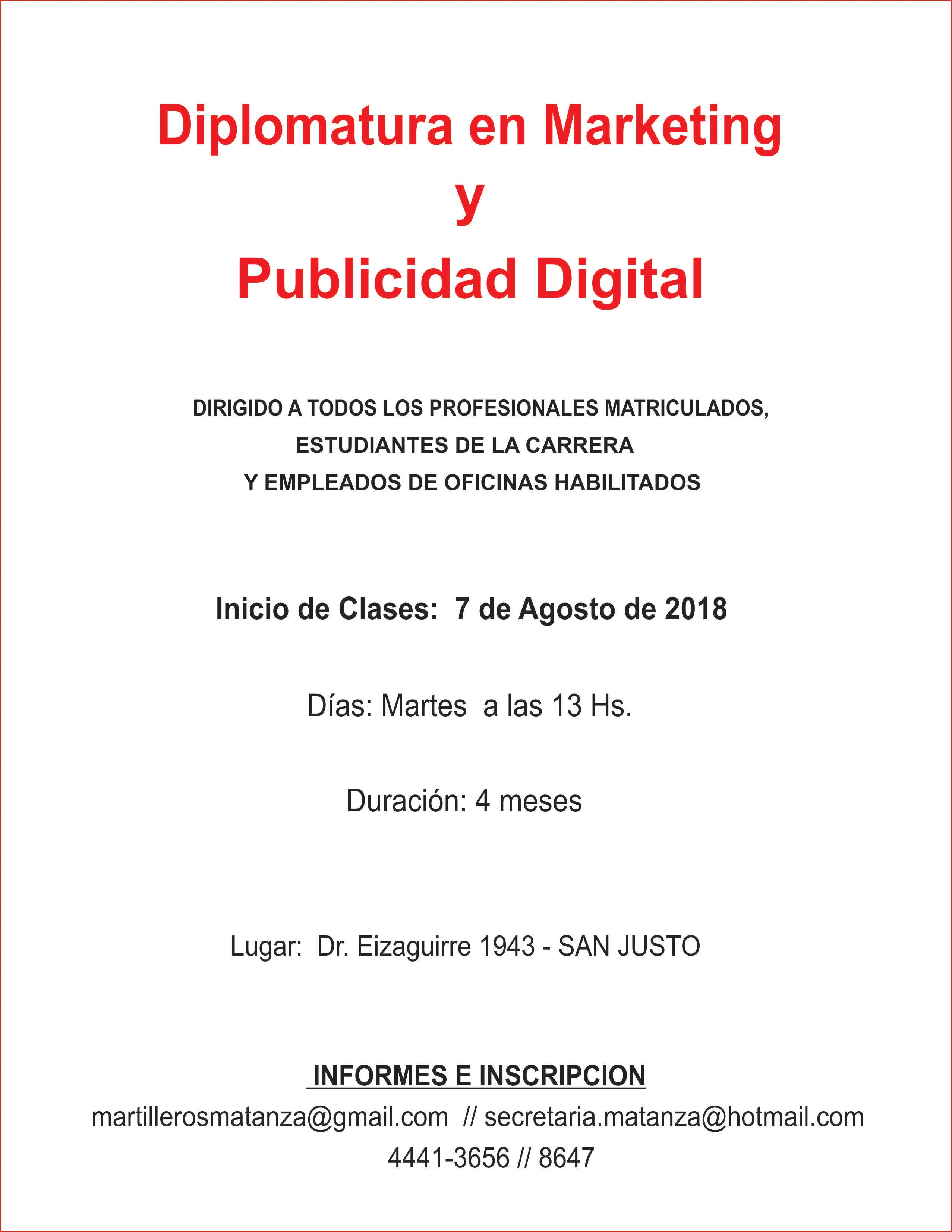 DIPLOMATURA MARKETING Y PUBLICIDAD 2018